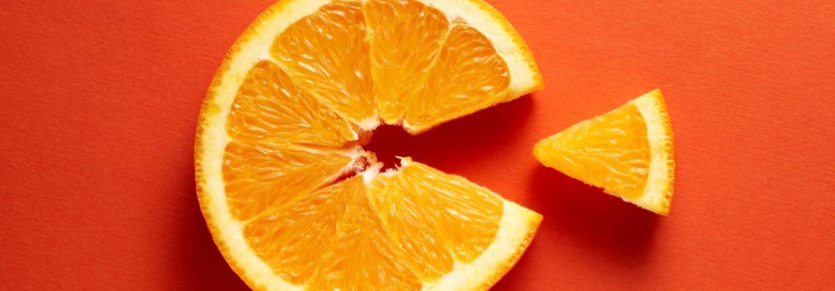 Orange Slice demonstrating bioavailability of Vitamin C