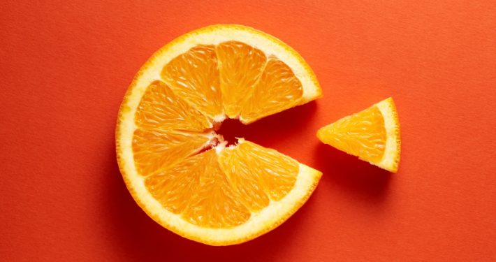 Orange Slice demonstrating bioavailability of Vitamin C
